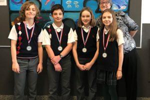 Génies en herbe école Sainte-Anne médaille